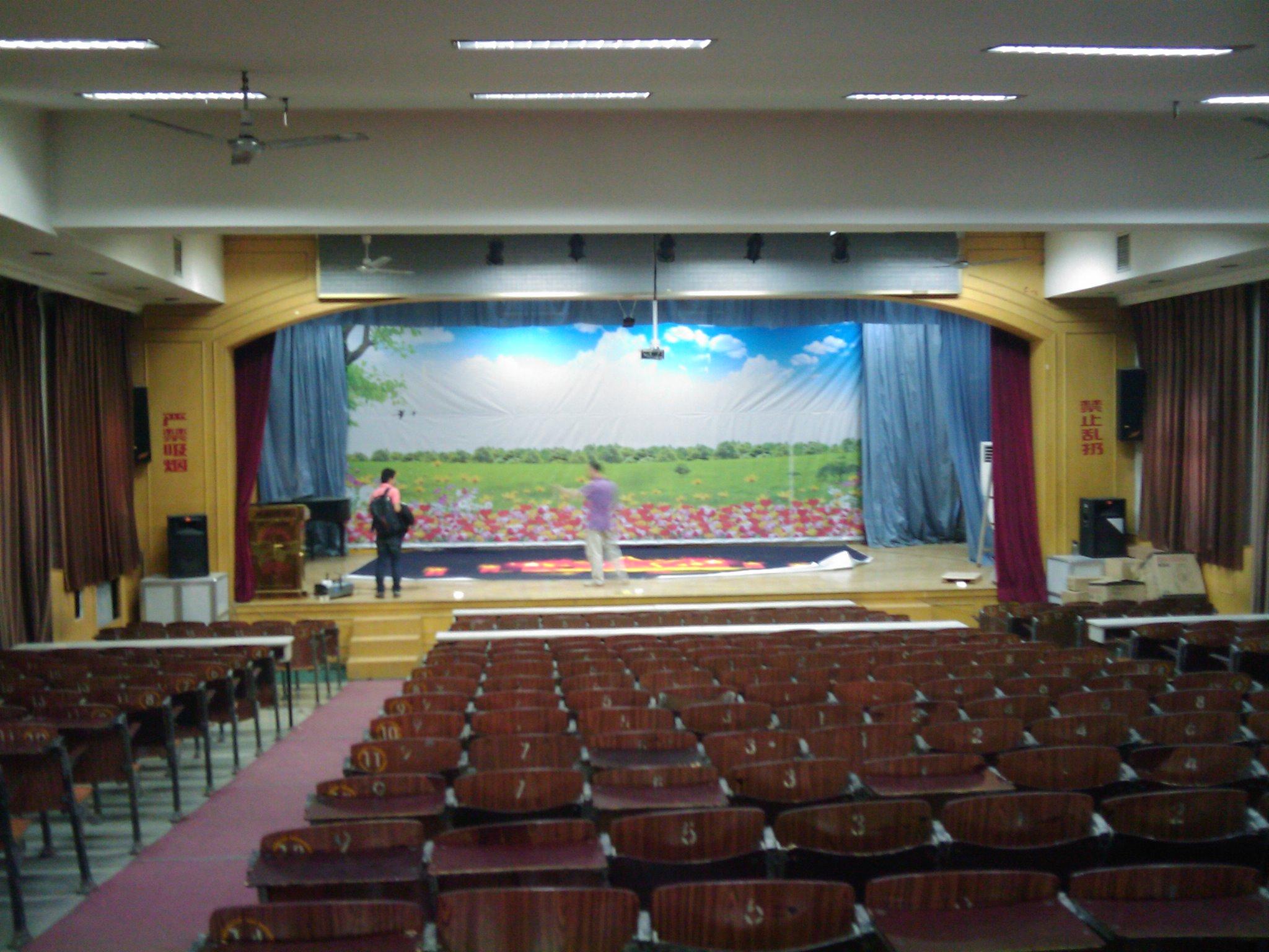 石家庄市第三中学礼堂cmp冠军国际灯光项目